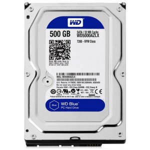 HDD Жесткий диск WD Blue 500GB [WD5000AZLX]